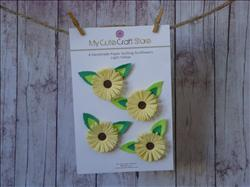 Paper Quilling Sunflowers: Light Yellow